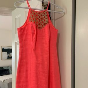 Lily Pulitzer Pink Sun Ray mini fitted dress-NeW